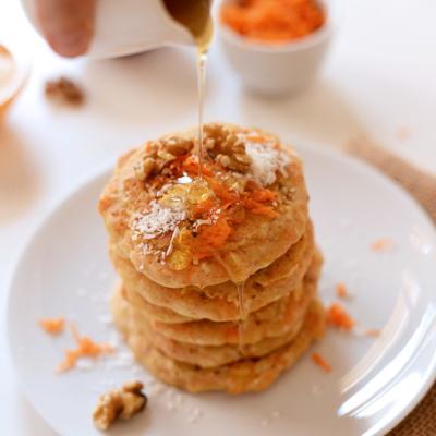 Vegan Carrot Coconut Pancakes