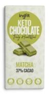 INGFIT KETO CHOCOLATE MATCHA 37% CACAO 100G