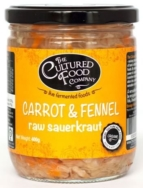 THE CULTURED FOOD CO CARROT FENNEL SAUERKRAUT 400G