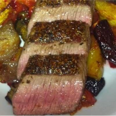 Lamb and Roasted Vegetables