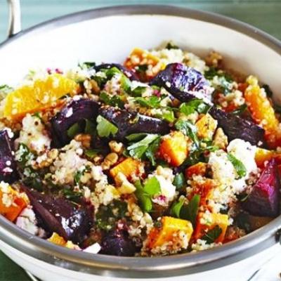 Quinoa with Beetroot & Pumpkin