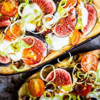 Grilled Eggplant with Figs