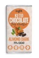 INGFIT KETO CHOCOLATE ALMOND DARK 70% CACAO 100G