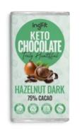 INGFIT KETO CHOCOLATE HAZELNUT DARK 70% CACAO 100G