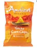 AMAIZIN ORGANIC NACHO CORN CHIPS 150G