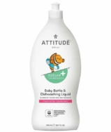 Baby Bottle Liquid Fragrance Free, Attitude