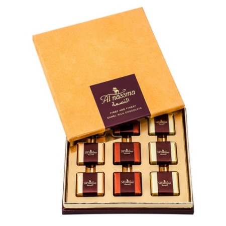 Al Nassma Camel Milk Chocolate Gift Box 118.8Gm