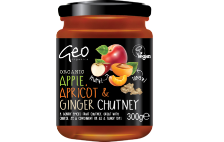 Apple, Apricot and Ginger Chutney, Geo Organics