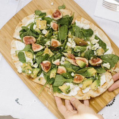 Raw Avocado & Fig Pizza