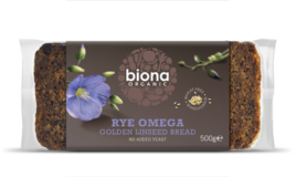 Organic Rye Golden Linseed Bread, Biona