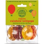 Organic Rainbow Lollies 6 pack, Biona Organic