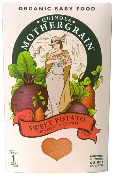 Baby Sweet Potato Beetroot and Quinoa, Quinola Mothergrain