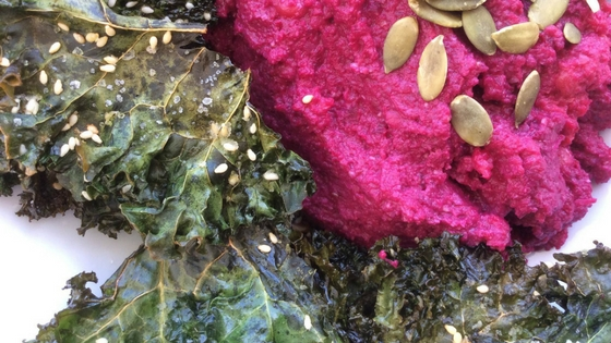 Beetroot-Hummus-and-kale-Chips_Ripe Organic