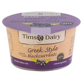 Bio-Live Greek Style Yoghurt Blackcurrants, Tim's Dairy