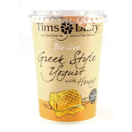 Bio-Live Greek Style Yoghurt Honey, Tim's Dairy