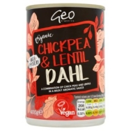 GEO ORGANICS CHICKPEA & LENTIL DAHL 400G