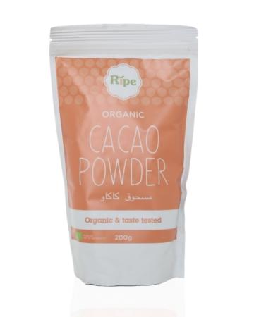 Cacao powder, Ripe