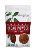 ESSENTIAL LIVING FOODS CACAO POWDER ORG 113G