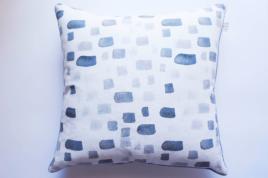 Charcoal Stripe/Dash Cushion, Georgia Macmillan