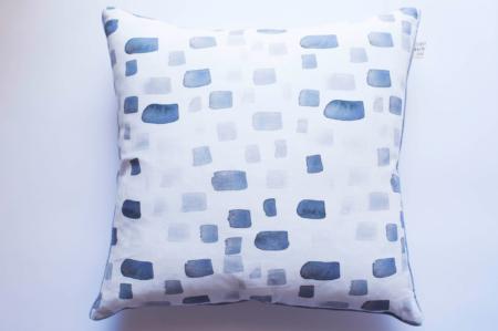 Charcoal Stripe Dash Cushion