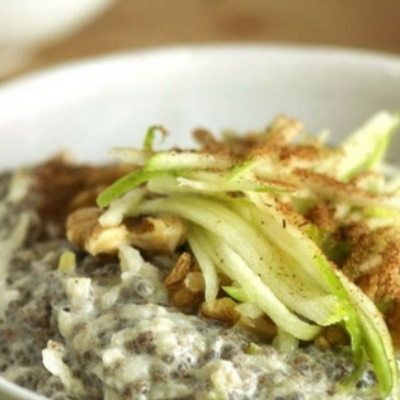 Chia, Apple and Cinnamon Bircher