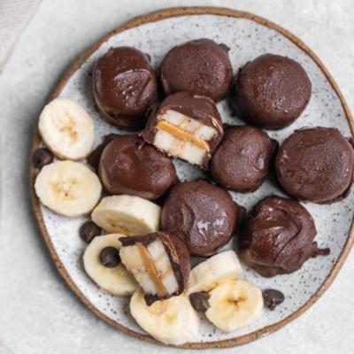 Chocolate Covered Banana Almond Bites