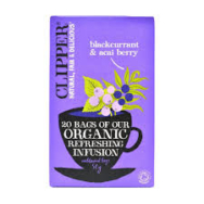 Clipper Organic Blackcurrant and Acai Tea Bags - 20 Tea Bags