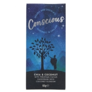 CONSCIOUS CHIA AND COCONUT RAW 60G