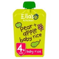 ELLAS APPLE AND PEAR BABY RICE 120G