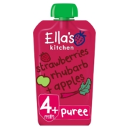 ELLAS STRAWBERRY RHUBARB AND APPLE 120G