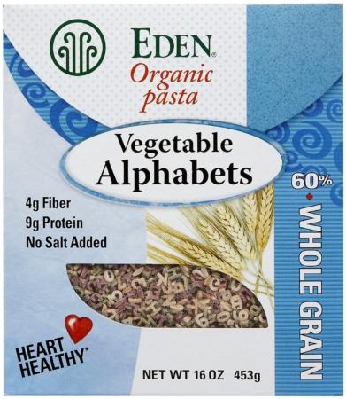 Eden Organic Vegetable Alphabet Pasta
