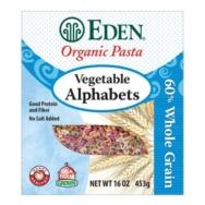 Organic Vegetable Alphabets Pasta, Eden Foods