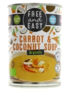 FREE & EASY CARROT & COCONUT SOUP 400G