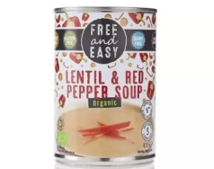 FREE & EASY LENTIL AND RED PEPPER SOUP 400G