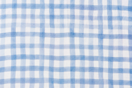 Faraglioni Blue Check Tablecloth, Georgia Macmillan