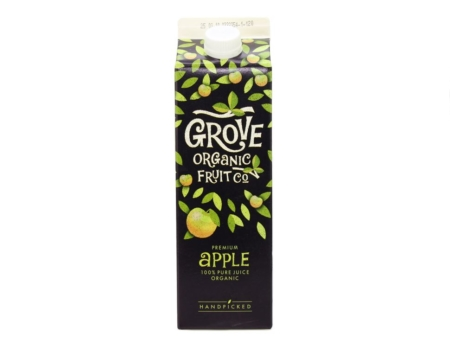 GROVE FRESH ORGANIC APPLE JUICE 6X1L