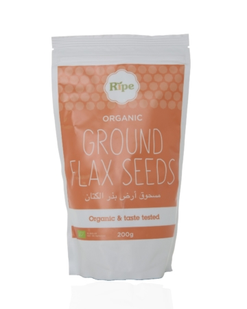 Ground Flaz seeds, Ripe