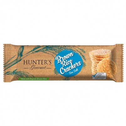 Hunters-Gourmet-Brown-Rice-sea salt Crackers