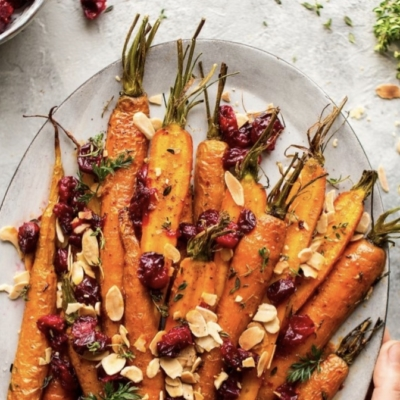 Maple & Harrisa Roasted Carrots