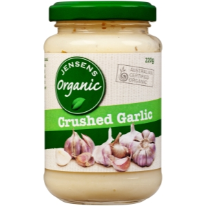 Jensens Organic Crushed Garlic
