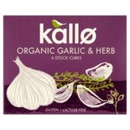 Organic Garlic & Herb Stock Cubes, Kallo