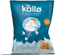 Salt & Vinegar Mini Rice & Corn Cake, Kallo