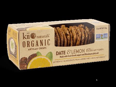 Kii naturals-organic crisps -date lemon