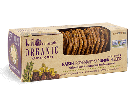 Kii naturals-organic crisps -raisin rosemary
