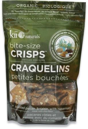 Kii naturals organic pecan and raisin crisps