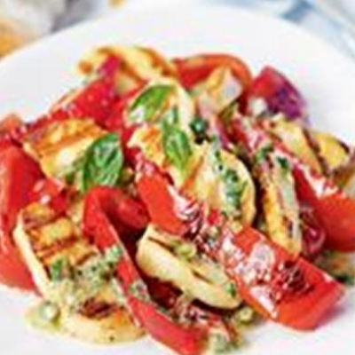 Pepper And Haloumi Salad
