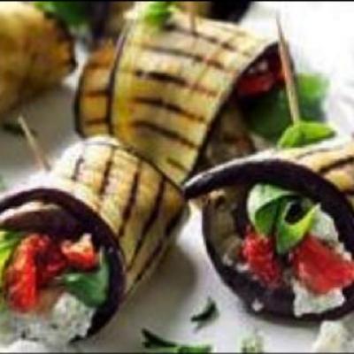 Mediterranean Eggplant wraps