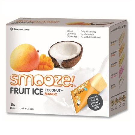 coconut and mango fruit ice smooze