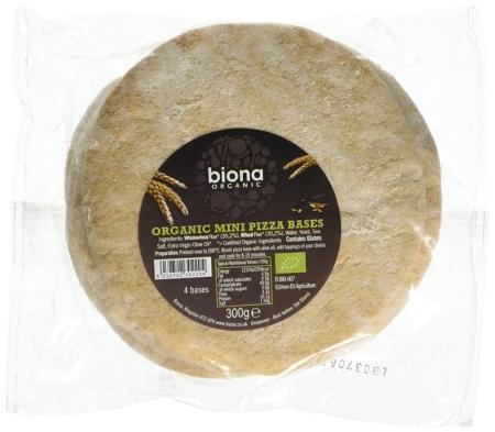 Mini Wholewheat Pizza Bases, Biona