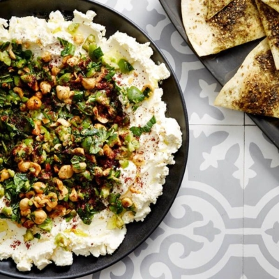 Olive and mint Labneh
